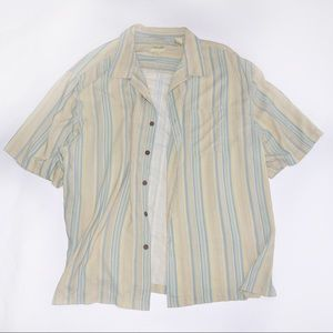 Other - 100% Silk Shirt with Stripes and Oversized Fit